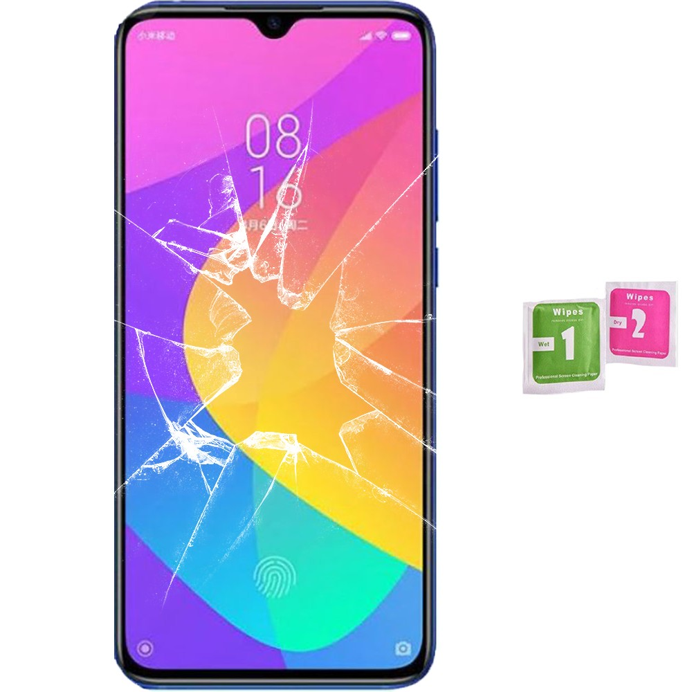 Protector Screen Tempered Glass For For Xiaomi MI 9 LITE (Generico, Not Full SEE INFO) WIPES