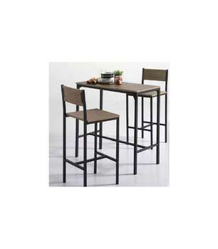 Pack Kitchen Table High + 2 High Stools