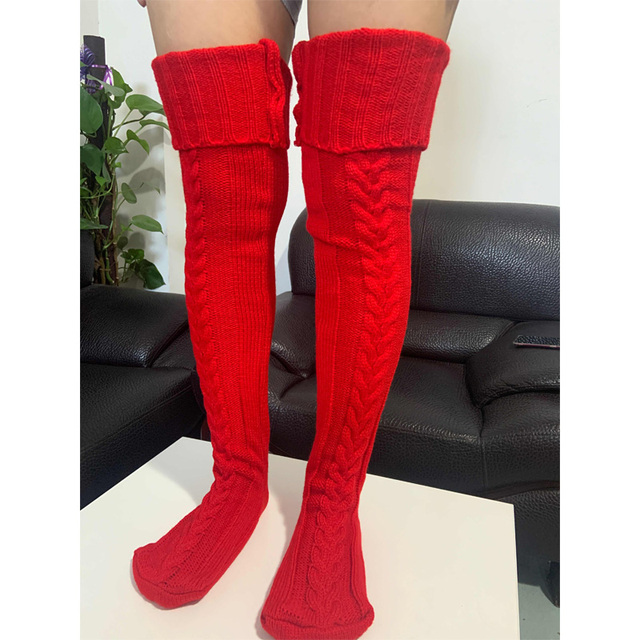 Knitted Pattern Thigh Highs 4
