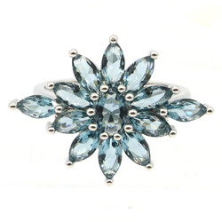 25x19 мм юбилей создан темно Лондон Голубой топаз Серебряное кольцо для женщин, ювелирные изделия на каждый день, одежда оптом, Прямая поставк...