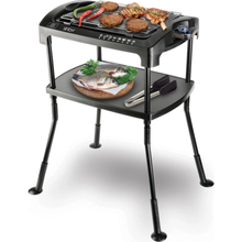 Portable Electric Barbeque with Stand, Electric Grill Gridders Smokeless Nonstick Indoor Outdoor Kitchen Chefs BBQ Cooking Stove