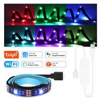 WIFI RGB LED Streifen Licht 5050 USB RGB Band Dekorative Lampe TV PC Hintergrundbeleuchtung Tuya Smart Steuer Arbeit Mit Alexa google Assistent