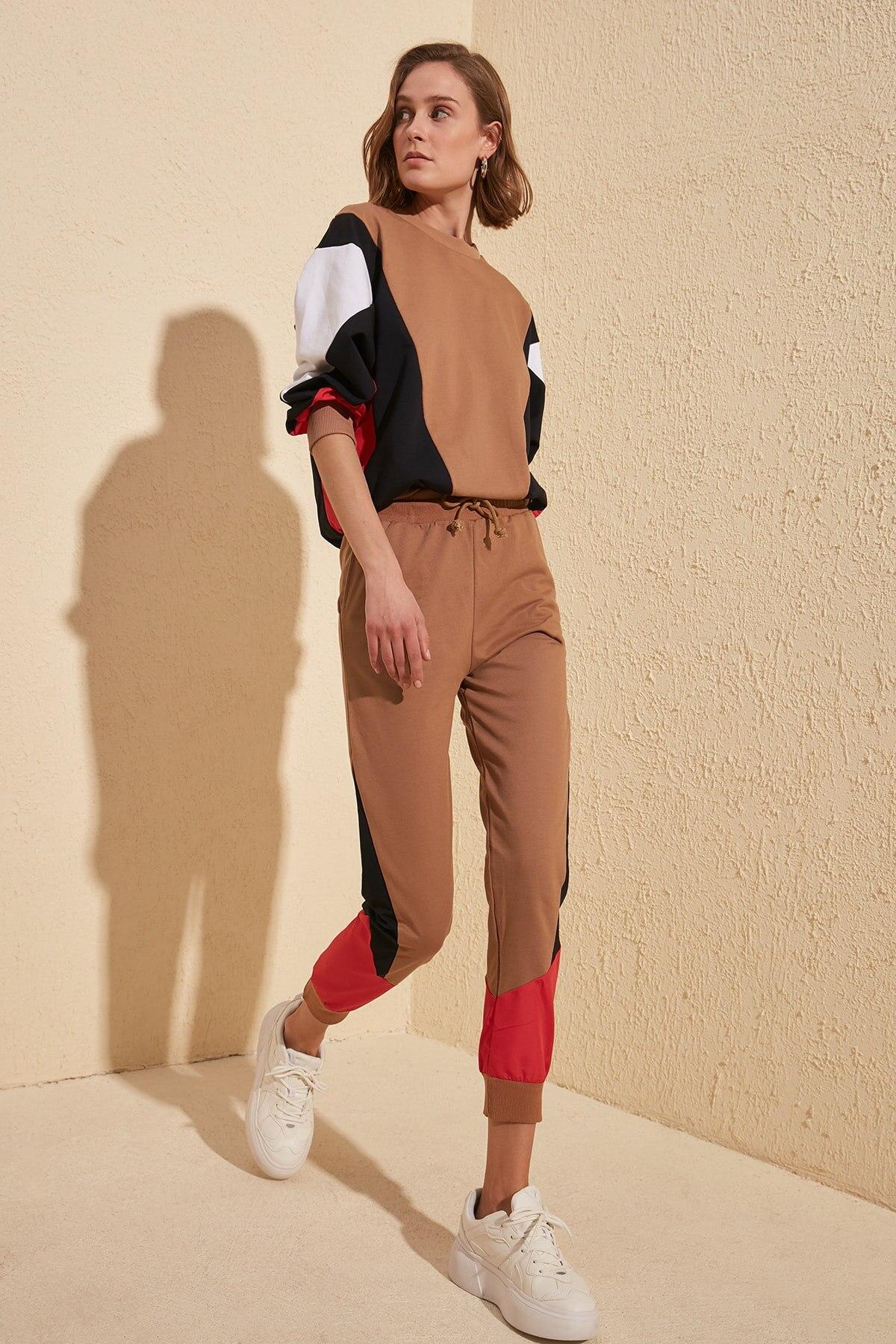 Trendyol Blocky Knit Sweatpants TWOSS20EA0038