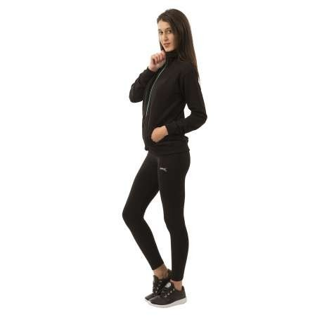 LEGGING SOFTEE BASIC LARGO MUJER - TALLA L - COLOR NEGRO