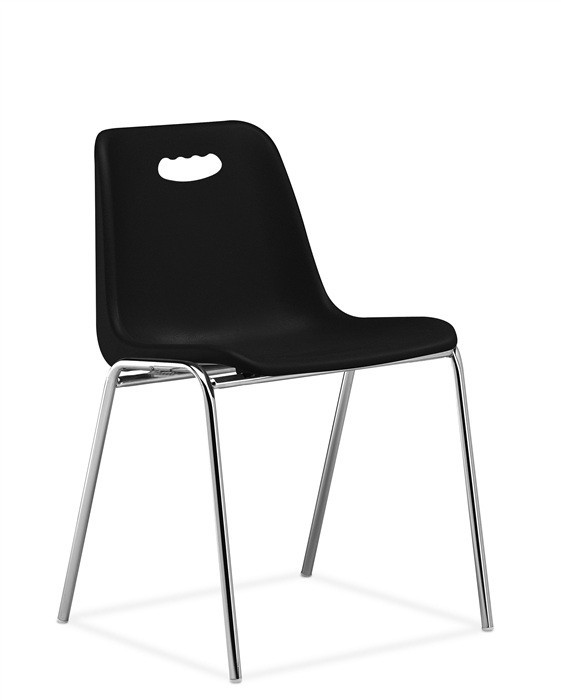 Chair ENCLOSURE With Handhold, Chrome Plated, Black