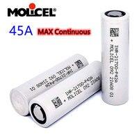 Batteria ricaricabile agli ioni di litio originale Molicel ricaricabile 21700 4200mah 30A / 45A P42A 3.7V batterie al litio per torcia