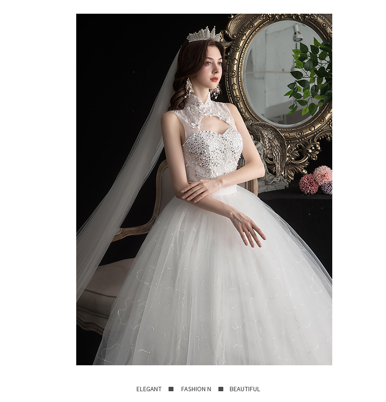 NEW 2020 St.Des Ivory A-line Russian Stand Collar Embroidery Jewel Floor-length Designer Elegant Wedding Dress Wedding Gown