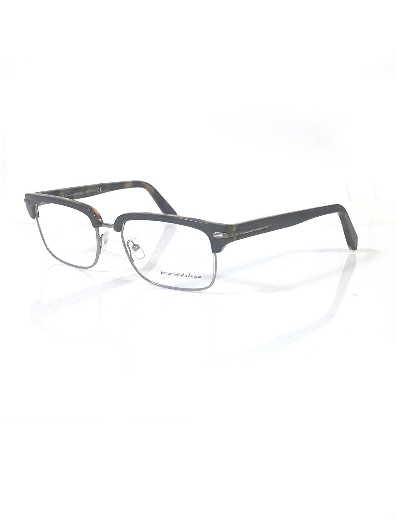 Markamilla Unisex Reading Glasses Frame Demo Glasses Eyewear Transparent High Quality Women MenErmenegildo Zegna EZ 5034 020