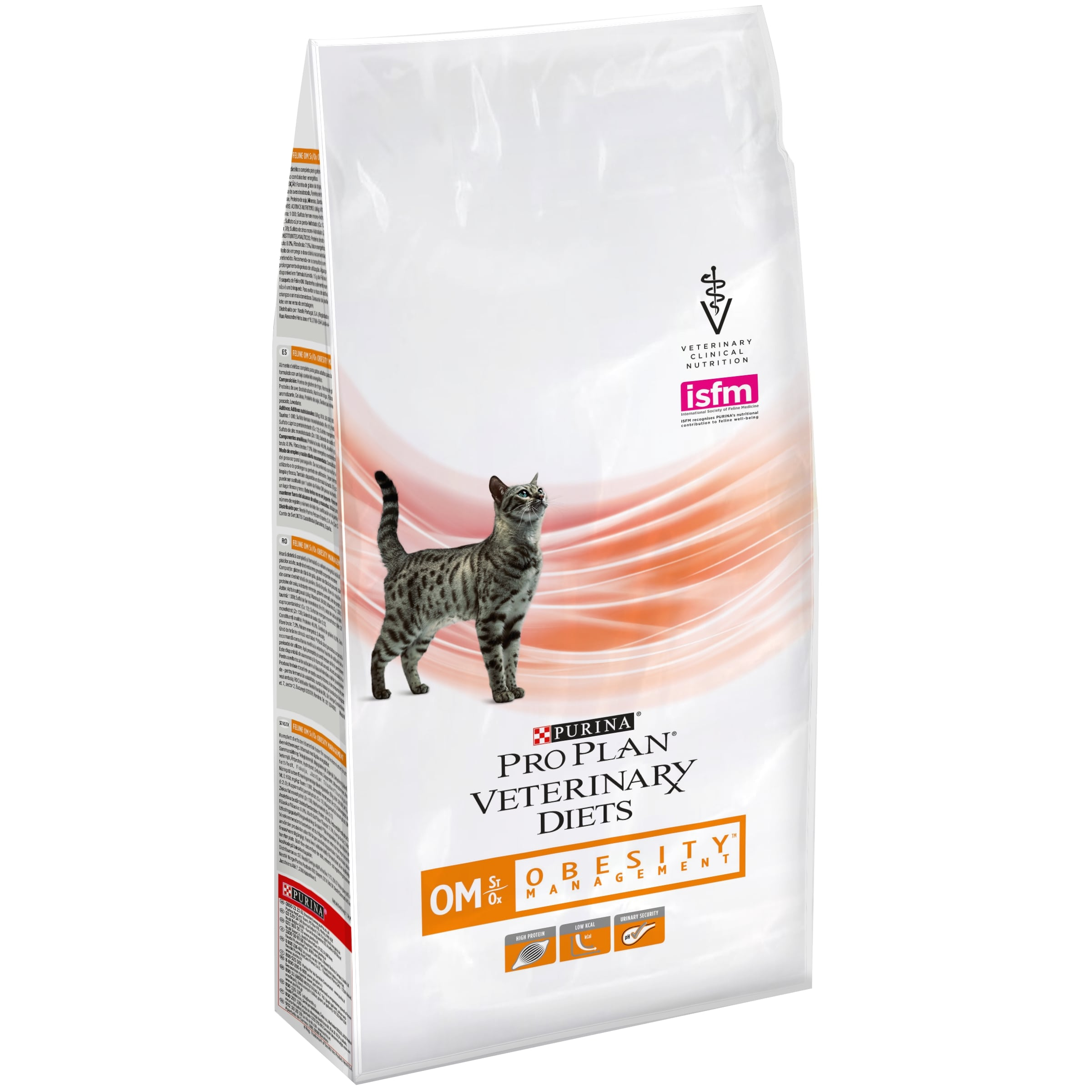 Dry food Pro Plan Veterinary diets OM cat food for obesity, Package, 1.5 kg