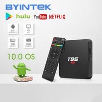 BYINTEK TV Box sistema operativo Android 10.0, 2G 16G 2.4G chip wifi3229, lettore multimediale Netflix Hulu, lettore multimediale 4K Youtube