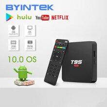 BYINTEK TV kutusu Android 10.0 işletim sistemi, 2G + 16G 2.4G WIFI Chipset3229, media Player Netflix Hulu, medya oynatıcı 4K Youtube