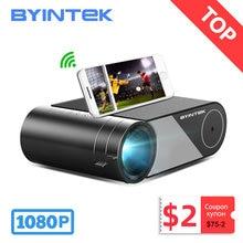 Byintek k9 mini 1280x720p vídeo portátil beamer led projetor proyector para 1080p 3d 4k cinema (opção multi-tela para iphone)