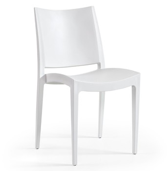 Chair BEYBE, stackable, polypropylene White *
