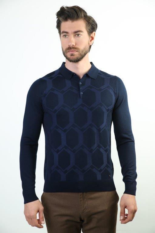 Sweater Polo Collar Men 'S Wool Sweater 3280