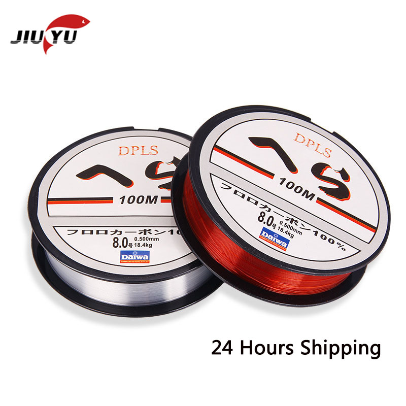 100M Super Strong Nylon Fishing Line 4-40LB Pull Japan Iimport Material Monofilament Wear Resistant Fishing Tool Red Transparent