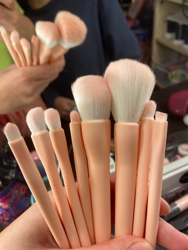 8PCS Makeup Brushes Sets Powder Foundation Blusher Eyeshadow Brush Candy Cosmetic Colorful Make Up NO MSQ LOGO With Bag reviews №1 156517
