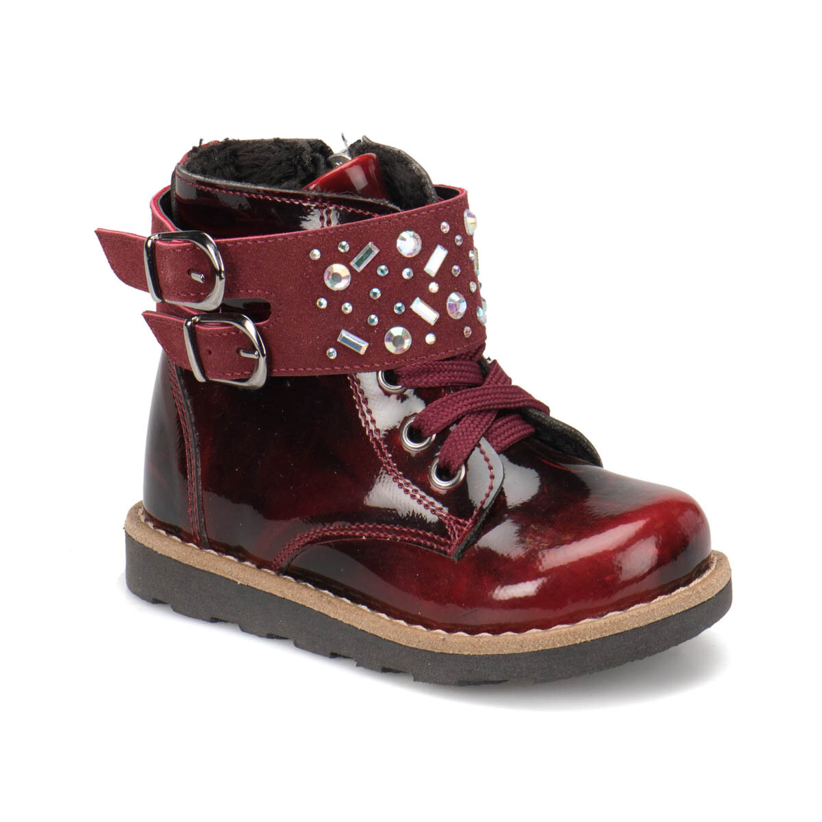 FLO BLSS27 Burgundy Female Child Boots Balloon-s