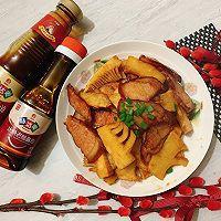 蚝油腊肉炒冬笋,鲜味熏味不冲突的做法图解12