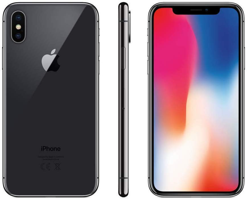 Apple iPhone X 256GB gray space Silver + accessories + warranty 12 months