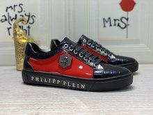 PL1423 Top Qualité Philipp Plein homme En Cuir Chaussures Décontractées Pour La mode Chaussures de Course Chaussures Décontractées En Plein Air Chaussures De Sport Baskets