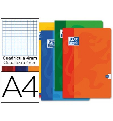 SCHOOL NOTEBOOK OXFORD 48 H DIN A4 TABLE 4 MM 10 PCs