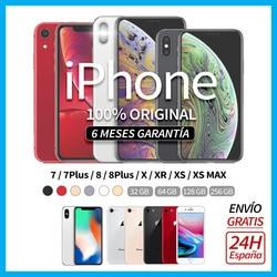 Мобильный iPhone X/XR/XS MAX/7/7 PLUS/8 черный, розовый, золотой, серебристый, серый, специальный 32 64 128 256 ГБ, Apple, разблокирован, бесплатная доставка, втор...