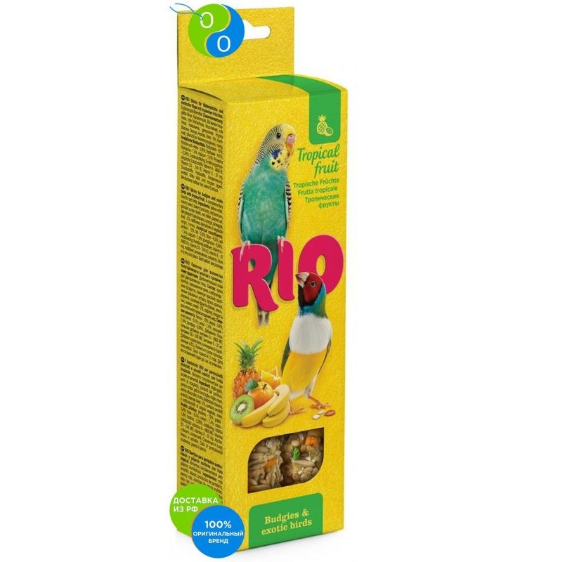 Rio sticks with tropical fruits for budgerigars and exotic 2h40g,rio, river and, a delicacy for birds, parrots sticks, sticks for canaries, bird, lakomtsva for birds to feed poultry, than to treat bird birds and floral print beach kimono