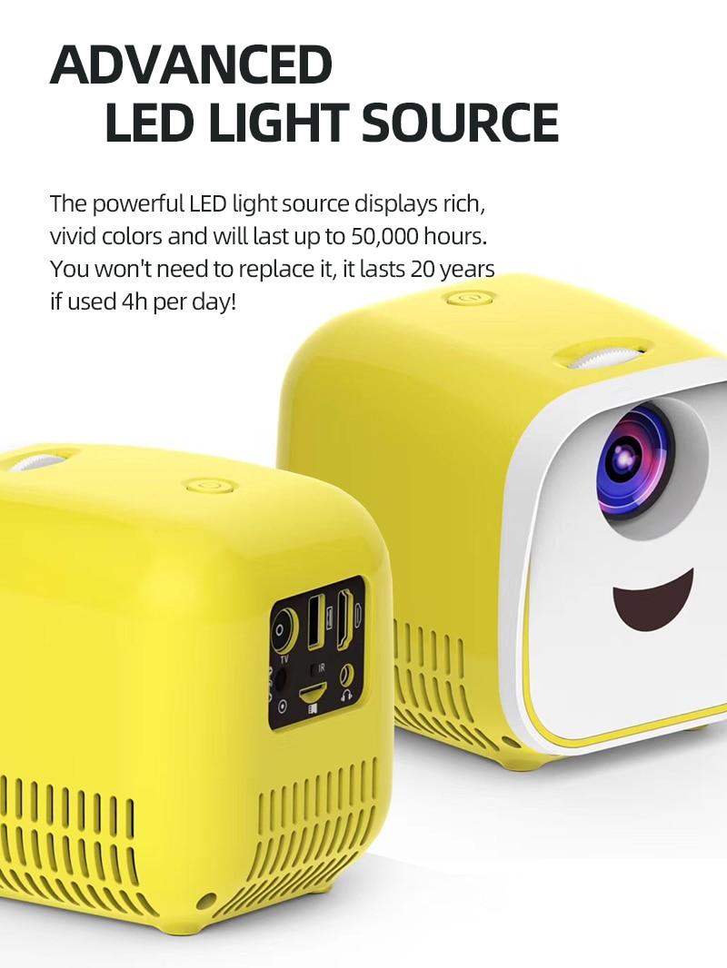 Tora dola mini projetor portátil l1 1080p vídeo suporte 3d filme para cinema em casa hd nativo 480*320p presentes pai-filho-3
