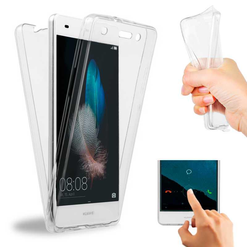 Чехол для Huawei P8 Lite ALE-L21 ALE-L02 ALE-L04 ALE-L23 ALE-UL00, передняя и задняя крышка из силикона с защитой на 360 градусов