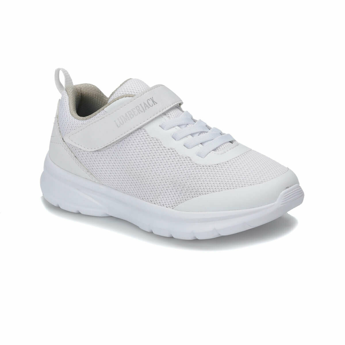 FLO RUN White Female Child Walking Shoes LUMBERJACK