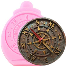 Antique Compass Silicone Molds Fondant Cake Decorating Tools Steampunk Cake Border Mould Candy Clay Chocolate Gumpaste Moulds
