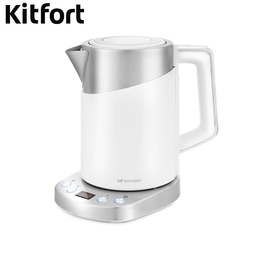 Electric Kettle Kitfort KT-660 Kettle Electric Electric kettles home kitchen appliances kettle make tea Thermo цена