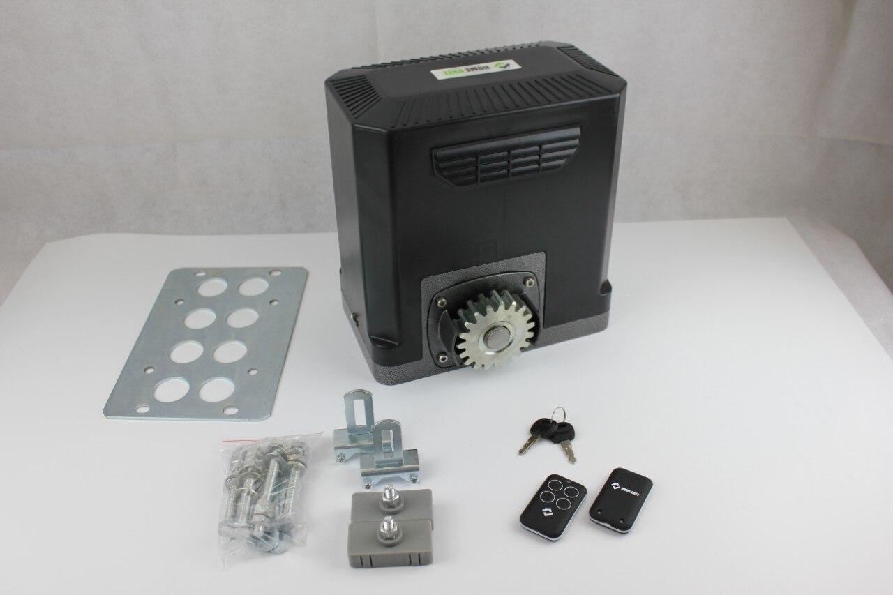 JY-600ACP Комплект привода на откатных ворот с блоком управления и 2 пультами, монтажная пластина