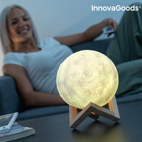 InnovaGoods Rechargeable LED Moon Lamp