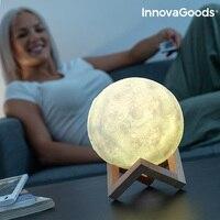 InnovaGoods Wiederaufladbare LED Mond Lampe auf