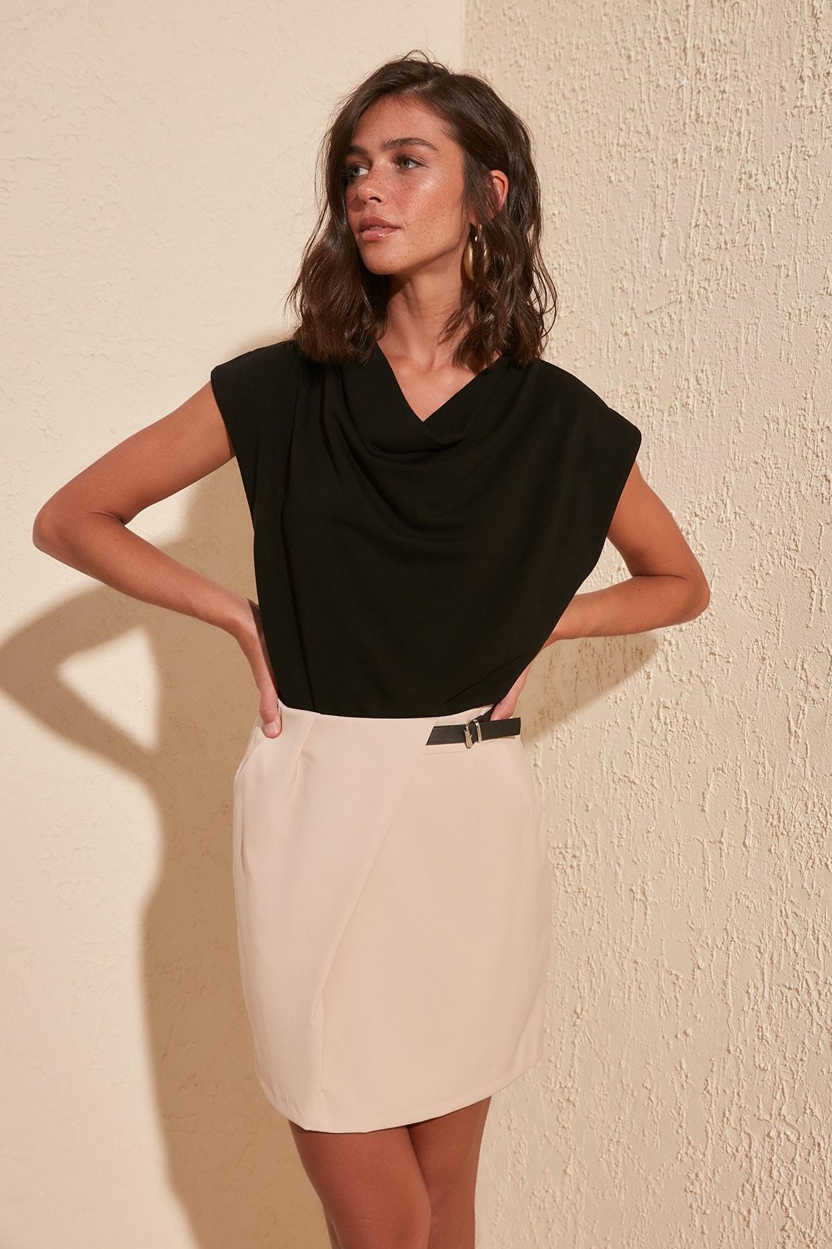 Trendyol Belt Detail Skirt TWOSS20ET0382