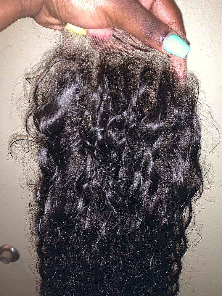 Apliques com cabelo humano Transparente Invisível Peruca