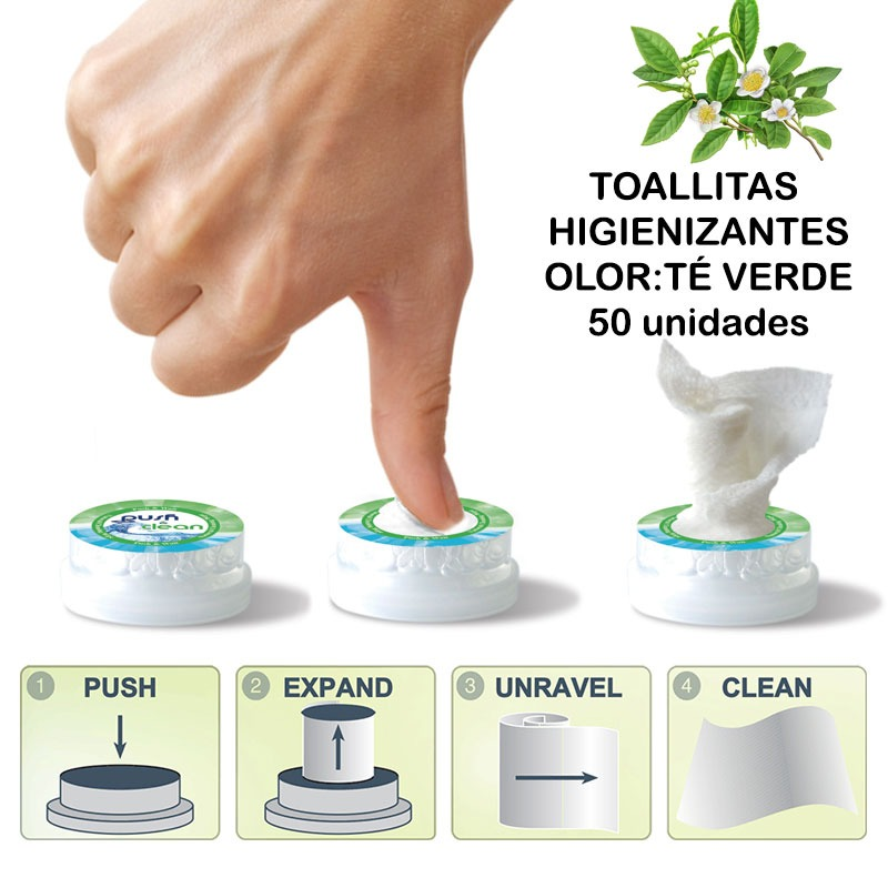 WIPES Disinfectants PUSH CLEAN Smell You Green 50und