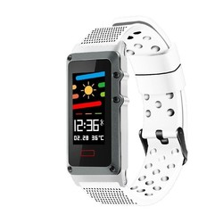 Quantifying bracelet leotec funny band white-screen color 2.44cm - bt-multisport-notifications-ip67-bat.120mah-