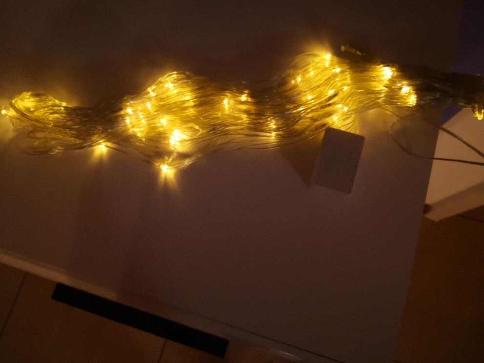Fios de LED Cordas Casamento Decoração