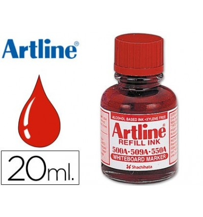 INK ARTLINE RED FOR MARKER BOARD WHITE 500-A VIAL 20 ML