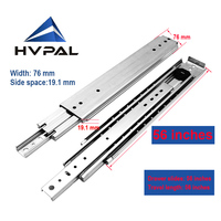 HVPAL 1400 mm 56 inches full extension 227 kg heavy duty ball bearing industrial drawer slides rails for workbench