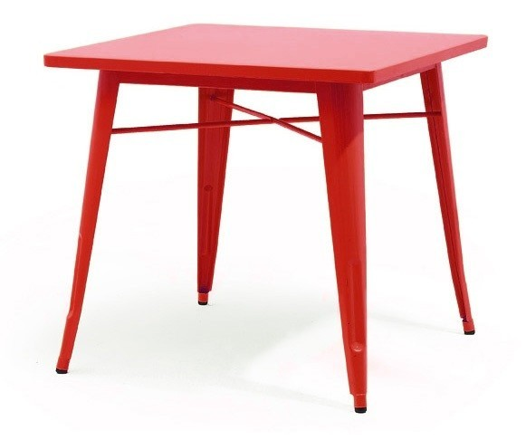 Table TOL, Steel, Red, 80x80 Cms