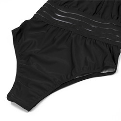 2019 сексуальный сдельный Купальник для женщин с высокой горловиной, бандажный купальник с перекрестной спинкой, монокини, черный купальник ... 6