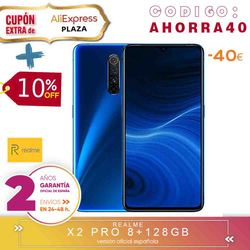 [Official Spanish Version Warranty] Realme X2, X2 PRO Smartphone phone, 8 gb ram 128 gb ROM 6,4 ''Snapdragon 730G, 855 Plus