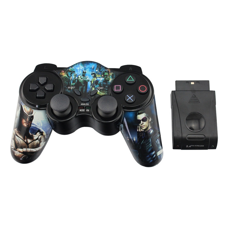 2.4G Wireless Gamepad for PS2 Joystick With USB Interface Game Pad Digital Controller TURBO|wireless usb gamepad|gamepad wirelessusb wireless gamepad - AliExpress