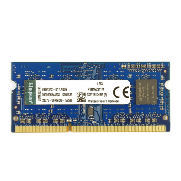 RAM Memory Kingston KVR16LS11 4 GB 1600 MHz DDR3 PC3 12800 RAMs Computer & Office - title=