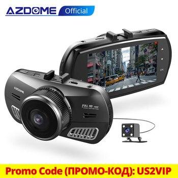 цена на AZDOME M11 3 inch 2.5D IPS Screen Dash Cam Car DVR Recorder HD 1080P Dual Lens Car Video Dashcam Night Vision Dash Camera GPS