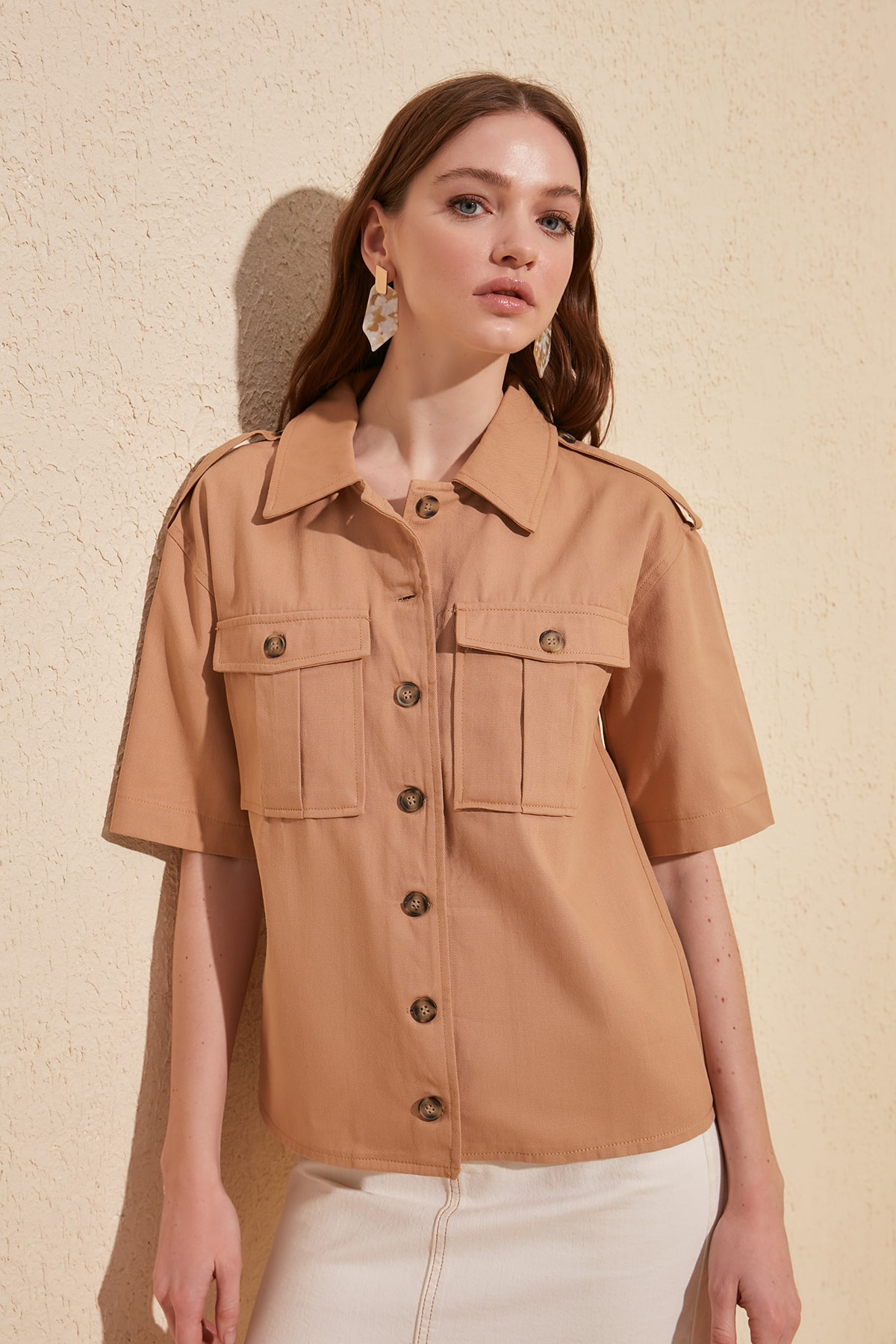 Trendyol Pocket Detail Shirt TWOSS20GO0066