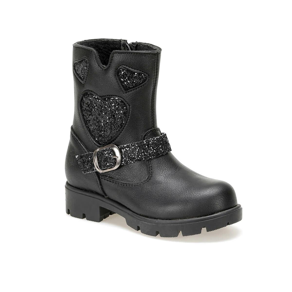 FLO RIMMA 9PR Black Female Child Basic Casual Shoes KINETIX